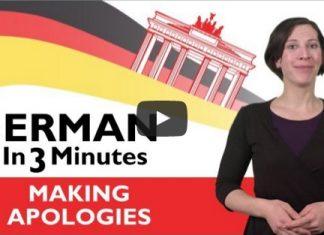 Making Apologies in German
