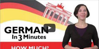 """learn how to say """"How much?"""" in german"""