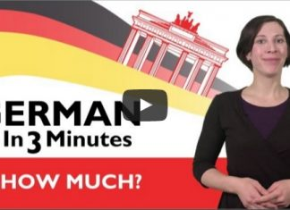 "learn how to say ""How much?"" in german"